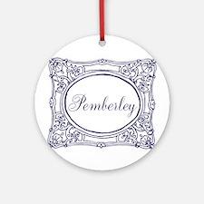 Pemberley Round Ornament