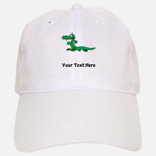 Cartoon Alligator (Custom) Baseball Baseball Baseball Cap