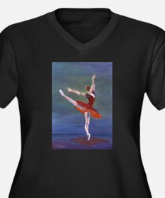 Red Ballelrina Plus Size T-Shirt