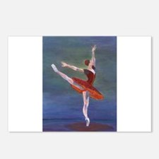 Red Ballelrina Postcards (Package of 8)