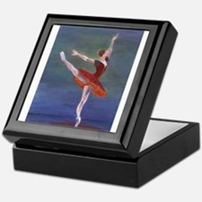Red Ballelrina Keepsake Box
