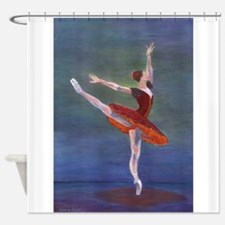 Red Ballelrina Shower Curtain
