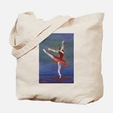 Red Ballelrina Tote Bag