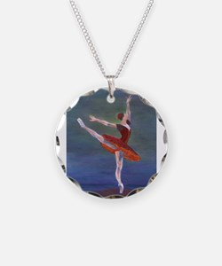 Red Ballelrina Necklace