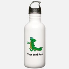 Cartoon Alligator (Custom) Water Bottle