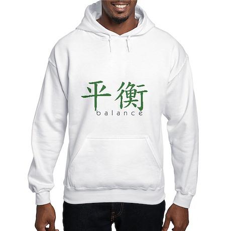 Chinese Symbol Balance Hooded Sweatshirt