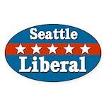 Seattle Liberal Oval Sticker