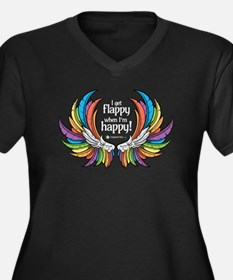Autism Wings - Flappy/Happy! Plus Size T-Shirt