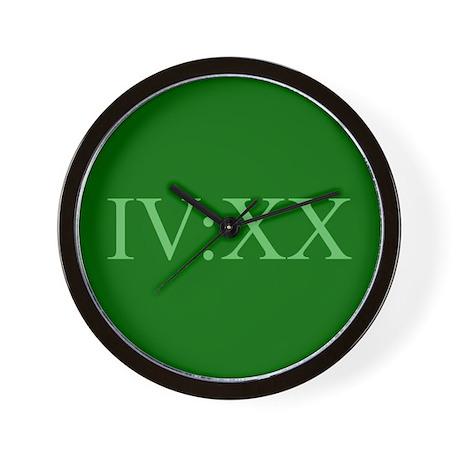IV:XX Wall Clock
