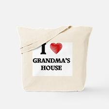 I love Grandma'S House Tote Bag