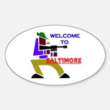 BALTIMORE Oval Decal
