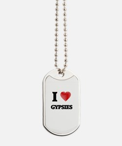 I love Gypsies Dog Tags