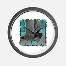 Neon Tap Feet Wall Clock