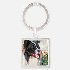 Border Collie Painting Keychains