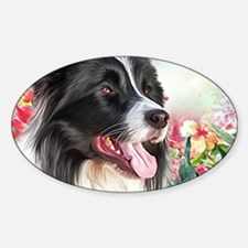 Border Collie Painting Decal