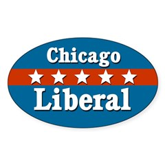 Patriotic Chicago Liberal Decal