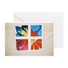 4 petal study Greeting Card