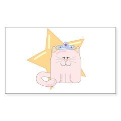 Kitty Princess Rectangle Decal