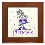 Princess in Purple Framed Tile