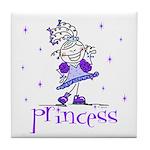 Princess in Purple Tile Coaster