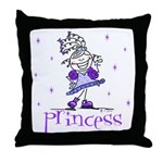 Princess in Purple Throw Pillow