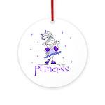 Princess in Purple Ornament (Round)