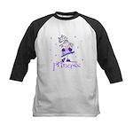 Princess in Purple Kids Baseball Jersey
