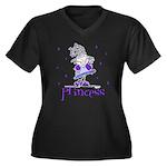 Princess in Purple Women's Plus Size V-Neck Dark T