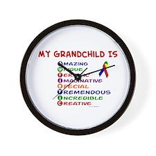 My GrandChild Is Autistic Wall Clock