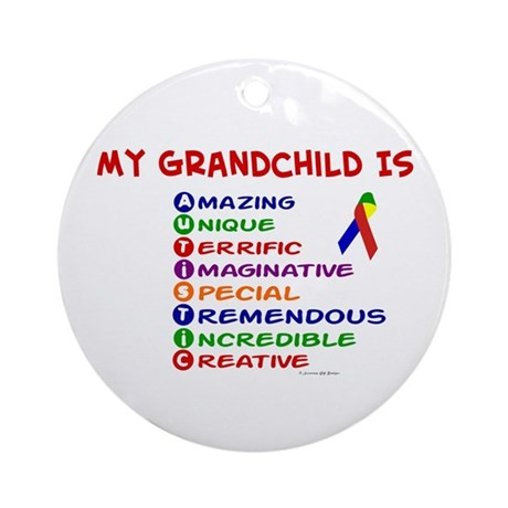My GrandChild Is Autistic Ornament (Round)
