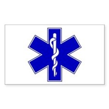 Star of Life Rectangle Decal