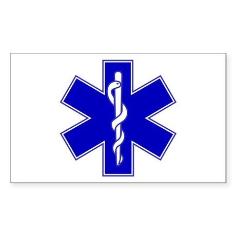Star of Life Rectangle Sticker