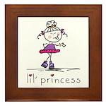 lil' princess 2 Framed Tile
