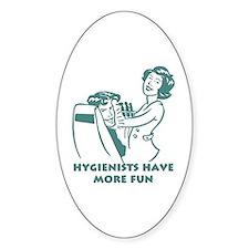 Funny Dental Hygiene Oval Decal