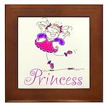 Pretty Pink Princess Framed Tile