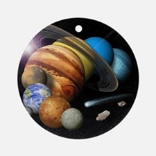 Solar System Montage Round Ornament