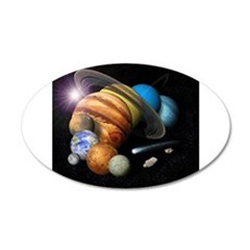 Solar System Montage Wall Decal