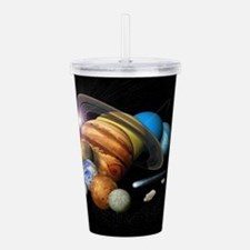 Solar System Montage Acrylic Double-wall Tumbler