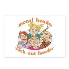 Metal Heads Rock Out Harder Postcards (Package of