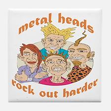 Metal Heads Rock Out Harder Tile Coaster