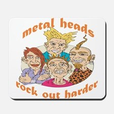 Metal Heads Rock Out Harder Mousepad
