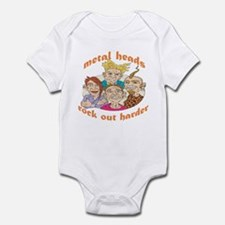 Metal Heads Rock Out Harder Infant Bodysuit