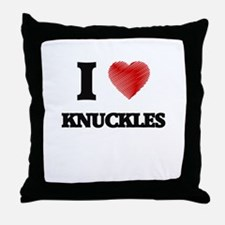 I love Knuckles Throw Pillow
