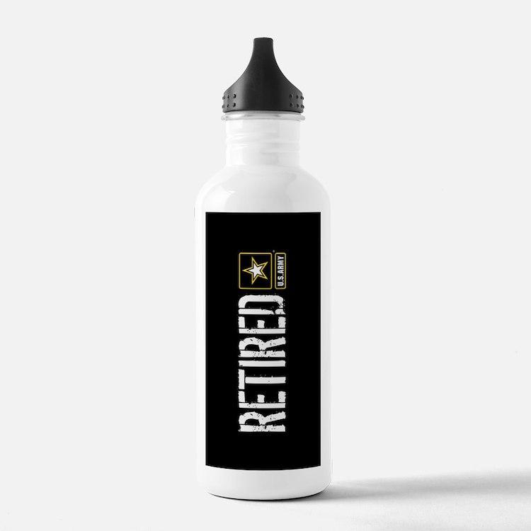U.S. Army: Retired (Black) Water Bottle
