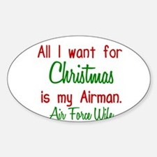 AF Wife Oval Decal