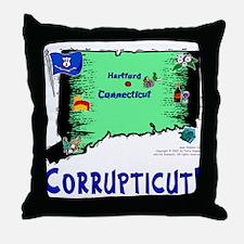 CT-Corrupticut! Throw Pillow