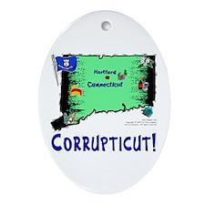 CT-Corrupticut! Oval Ornament