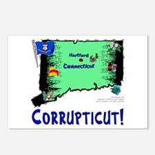 CT-Corrupticut! Postcards (Package of 8)