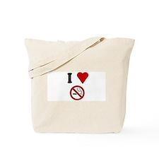I Love No Smoking Tote Bag