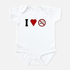 I Love No Smoking Infant Bodysuit